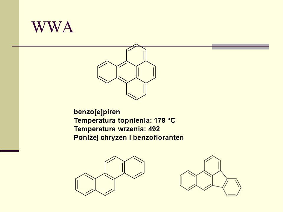 WWA benzo[e]piren Temperatura topnienia: 178 °C Temperatura wrzenia: 492.